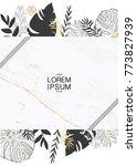 wedding invitation card... | Shutterstock .eps vector #773827939