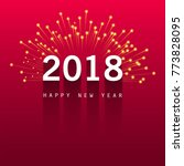 modern new year 2018 background   Shutterstock .eps vector #773828095