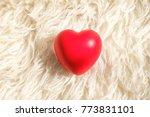 red heart model on a white...   Shutterstock . vector #773831101