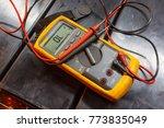 Yellow multimeter  a multimeter ...