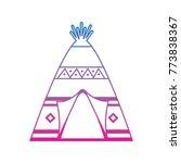 native american indian teepee...   Shutterstock .eps vector #773838367