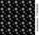 snowflakes pattern vector...   Shutterstock .eps vector #773838385