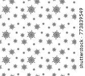 snowflakes pattern vector...   Shutterstock .eps vector #773839549
