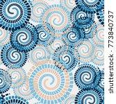 seamless texture. chaotically... | Shutterstock .eps vector #773840737