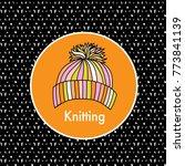 winter knitting icon. logo...   Shutterstock .eps vector #773841139