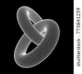 wireframe polygonal element. 3d ... | Shutterstock .eps vector #773841259