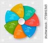 vector abstract 3d paper... | Shutterstock .eps vector #773841565