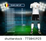 germany soccer jersey kit with... | Shutterstock .eps vector #773841925