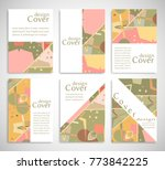 set of a4 cover  abstract...   Shutterstock .eps vector #773842225
