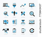 data analysis and big data icon ... | Shutterstock .eps vector #773843437