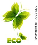 eco logo   two  green... | Shutterstock .eps vector #77384377