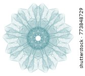 guilloche mandala . it can be...   Shutterstock .eps vector #773848729