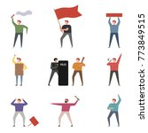 people who demonstrate in a... | Shutterstock .eps vector #773849515
