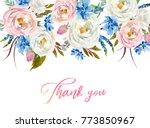 watercolor floral boho header   ... | Shutterstock . vector #773850967