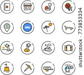 line vector icon set   passport ... | Shutterstock .eps vector #773853334