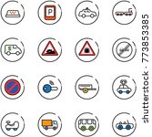 line vector icon set   taxi... | Shutterstock .eps vector #773853385