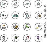 line vector icon set   power... | Shutterstock .eps vector #773853811