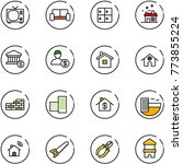 line vector icon set   tv... | Shutterstock .eps vector #773855224