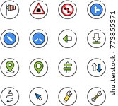 line vector icon set   side... | Shutterstock .eps vector #773855371