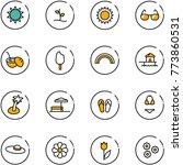 line vector icon set   sun...   Shutterstock .eps vector #773860531