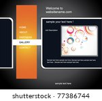 web site design template | Shutterstock .eps vector #77386744