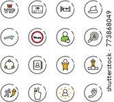 line vector icon set   vip... | Shutterstock .eps vector #773868049