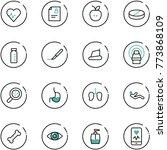 line vector icon set   heart... | Shutterstock .eps vector #773868109
