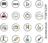 line vector icon set   fenced... | Shutterstock .eps vector #773871259