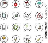 line vector icon set   side... | Shutterstock .eps vector #773871277