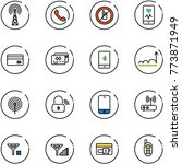 line vector icon set   antenna...   Shutterstock .eps vector #773871949