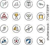 line vector icon set   power... | Shutterstock .eps vector #773873599