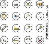 line vector icon set   drop... | Shutterstock .eps vector #773873731