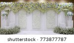 wedding backdrop flower | Shutterstock . vector #773877787