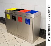 bins for garbage seperation | Shutterstock . vector #773880469