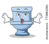 surprised toilet character... | Shutterstock .eps vector #773881081