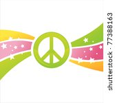 colorful peace background | Shutterstock .eps vector #77388163