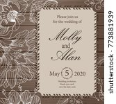 wedding invitation  thank you... | Shutterstock .eps vector #773881939