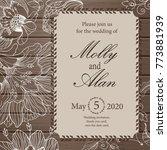 wedding invitation  thank you... | Shutterstock .eps vector #773881939