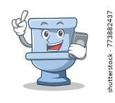 with phone toilet character... | Shutterstock .eps vector #773882437