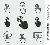 touch vector icons set. black... | Shutterstock .eps vector #773887147