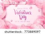happy holidays  valentines day... | Shutterstock .eps vector #773889097