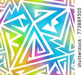 rainbow color geometric... | Shutterstock .eps vector #773889505