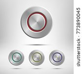 metal button set isolated on...   Shutterstock .eps vector #773890045