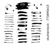 blot and brushes big vector set.... | Shutterstock .eps vector #773890615