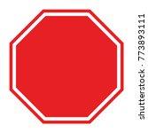 blank stop sign   Shutterstock .eps vector #773893111