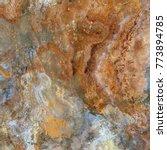 brown rustic marble texture... | Shutterstock . vector #773894785