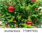 christmas tree decoration... | Shutterstock . vector #773897431