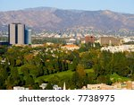 hollywood city and hills around ... | Shutterstock . vector #7738975