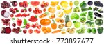 collection of fruits and... | Shutterstock . vector #773897677