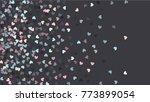beautiful confetti hearts... | Shutterstock .eps vector #773899054
